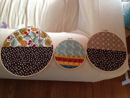 Sewing room hoops