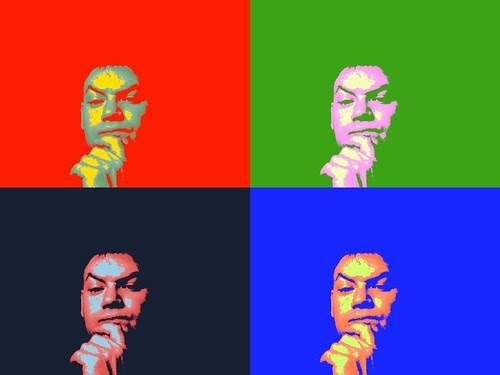 Warhol Thinker by Macbook