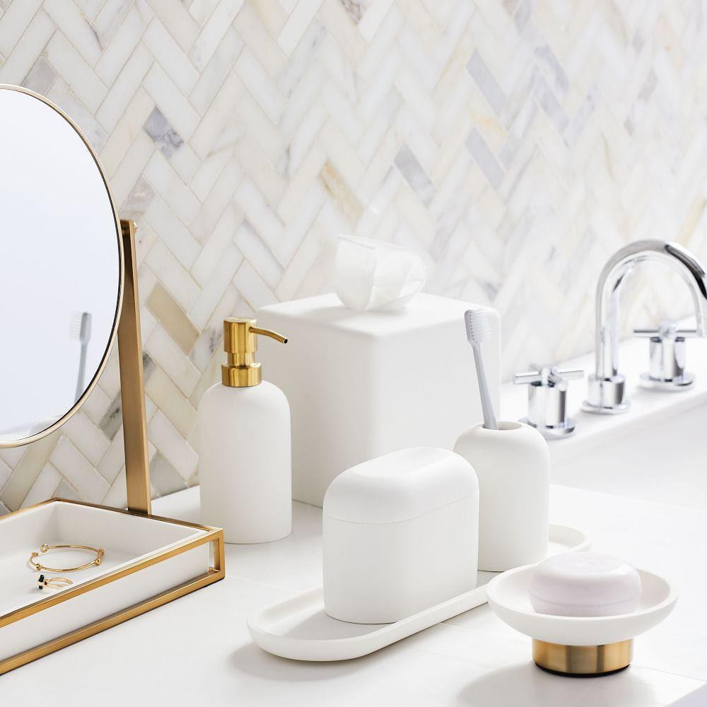 Modern Resin Stone Bathroom Accessories | west elm UK