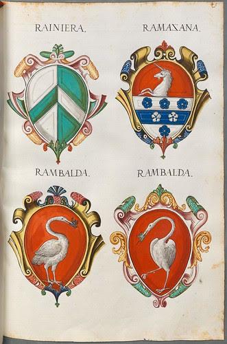 Familienwappen kleinerer Adelshäuser von Verona mit Buchstaben g