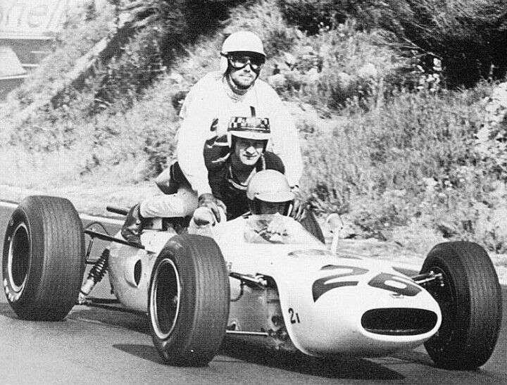 GP da França de 1965: o sueco Jo Bonnier, o britânico Innes Ireland e o estadunidense Ritchie Ginther