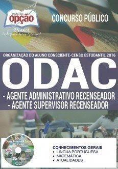 Apostila Concurso ODAC SP AGENTE ADMINISTRATIVO E AGENTE SUPERVISOR RECENSEADOR