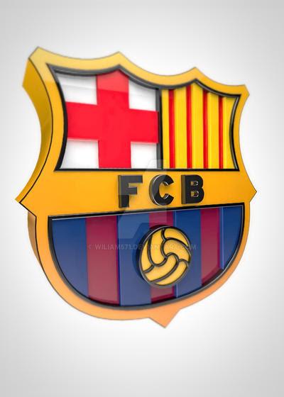 FC Barcelona logo 3D by wiliam571 on DeviantArt
