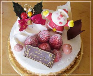 ル・パティシエ ヨコヤマ」のクリスマスケーキ。かわいいかわいい。