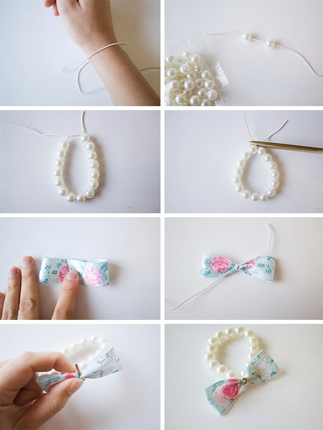 DIY _ Pearl Bow Bracelet tutorial