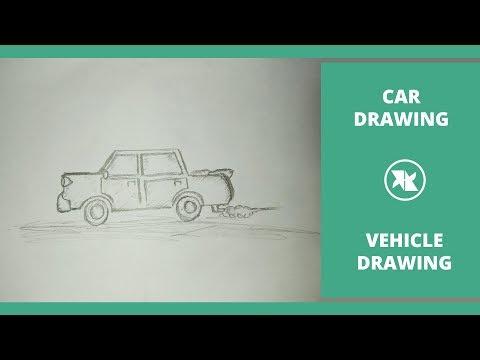 cartoon car drawing tutorial