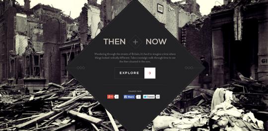 Then & Now -  An interactive journey around WW1 Britain