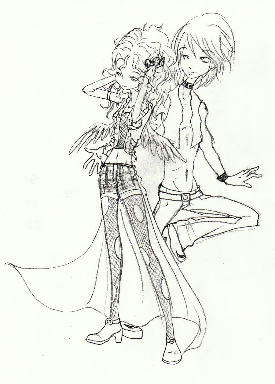 punk couple by toboewolf1 on DeviantArt