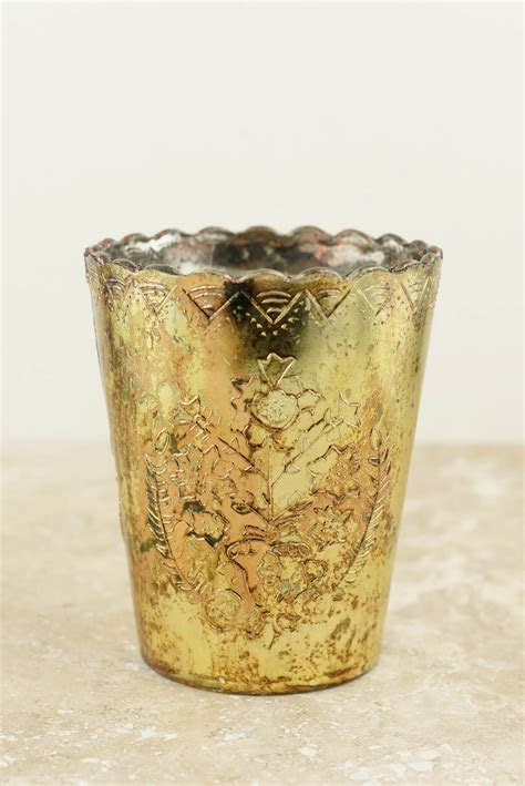 Gold Desiray Votive Candle Holders 4.75""