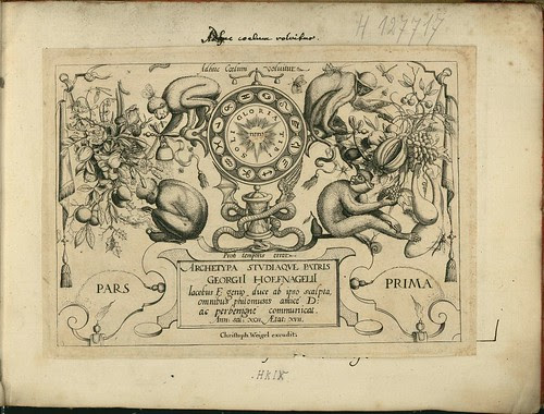 Archetypa studiaque patris - Joris Hoefnagel (1592) titlepage