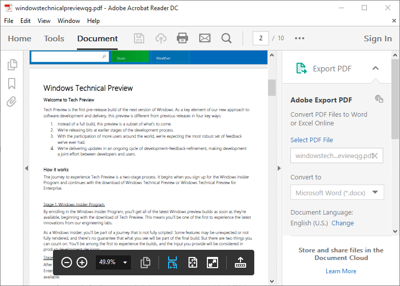 4 Free PDF Readers For Windows 10