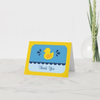 Rubber Ducky Thank You Card zazzle_card