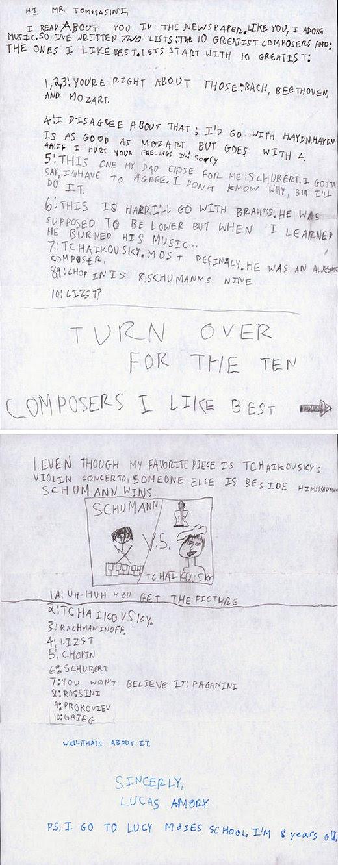 carta, niño, musica clasica, critica niño musica clasica