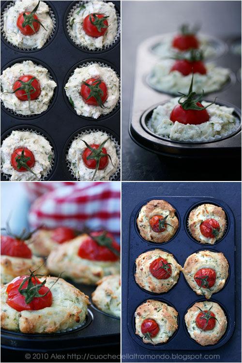 Muffins salati alla feta e alle erbe