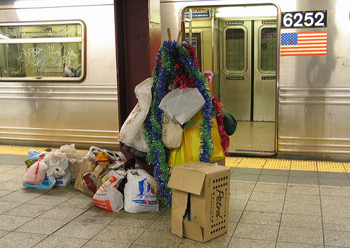 Christmas in the subway