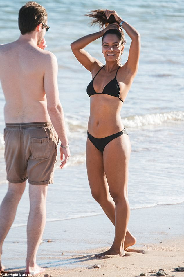 Relaxing: The 33-year-old actress treated her and her beau to the Grand Fiesta Americana Resort & Spa