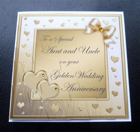 Aunt & Uncle Golden Wedding Anniversary Side Stacker