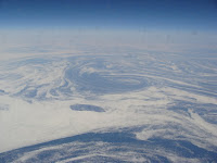 Aerial view of sea ice off Labrador