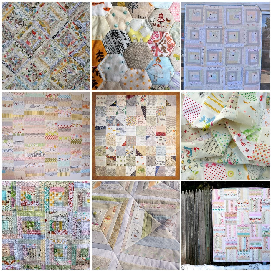 photos of some Low Volume quilts found on Flicker