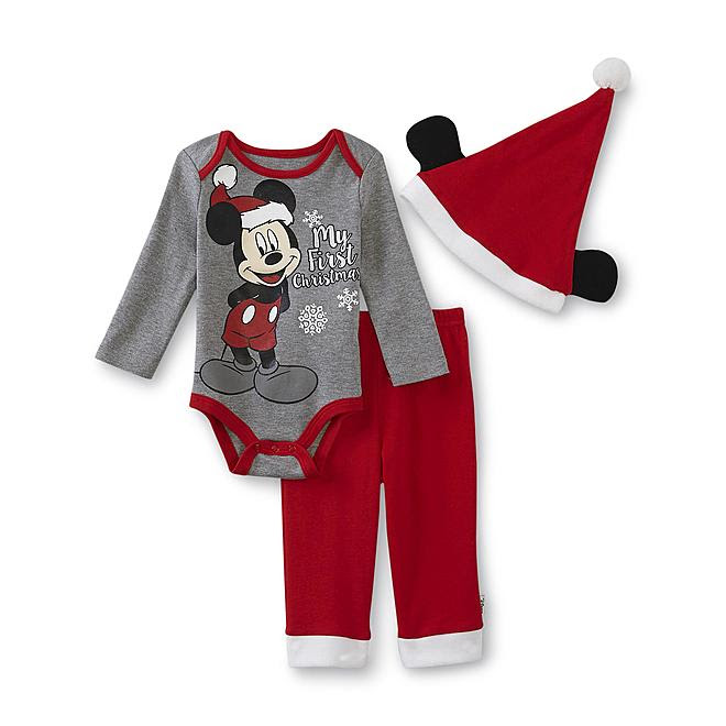 disney mickey mouse newborn boy's outfit  my first christmas