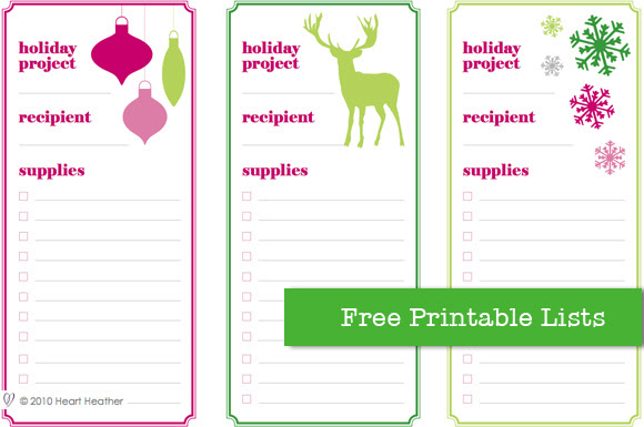 free printable project list designed by heart heather