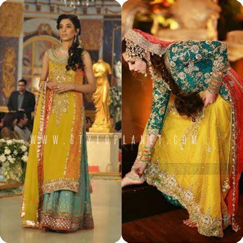 Pakistani Bridal Mehndi Dresses for Brides   Stylo Planet