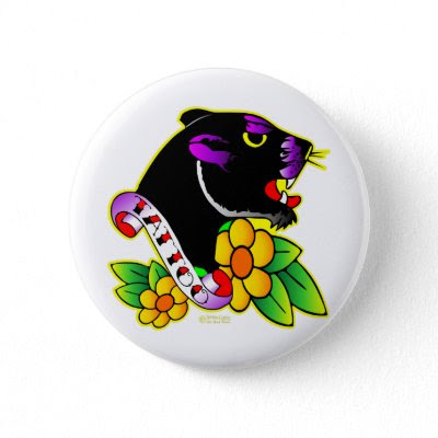 black panther tattoo. Black Panther Tattoo Button by Mustang_Lady. Black Panther Tattoo