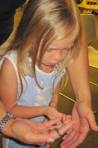 Kaitlyn Handling Snakes