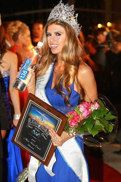 "Vanessa Golub becomes ""Miss West Coast 2014"" after competing at the first annual Miss West Coast Annual Pageant sponsored by 138 Water and held at The Lorenzo in Los Angeles on March 31, 2014. The event judged by actress Natasha Henstridge was hosted by producer Tara Rice and hosted by Entourage' actress and Miss North Hollywood Brittany Wagner.<br /> <br /> Pictured: Vanessa Golub"