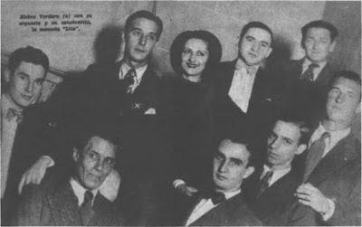 Osvaldo Pugliese integrante de la orquesta de Elvino Vardaro en 1935