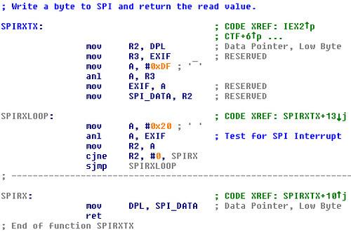 SPIRXTX for 8051