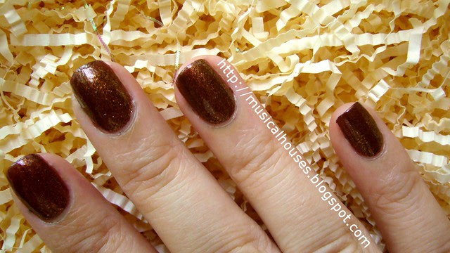 elianto burnt umber nail polish 2