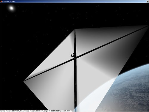 Solar Sail in Orbiter