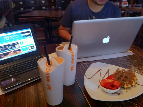 camped out in Max Brenner