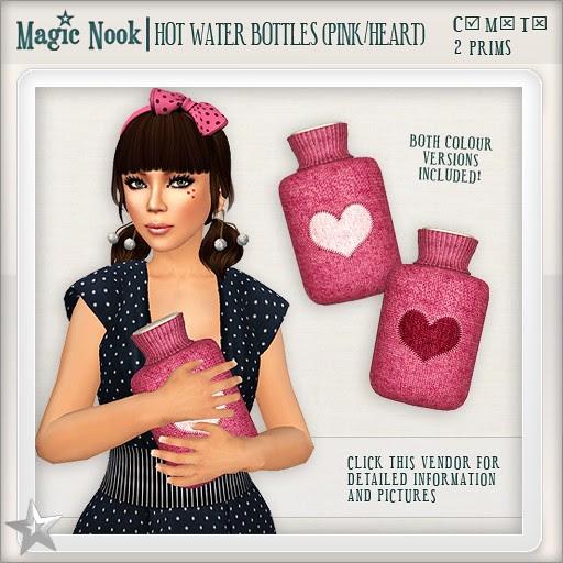 [MAGIC NOOK] Hot Water Bottles (Pink / Heart)