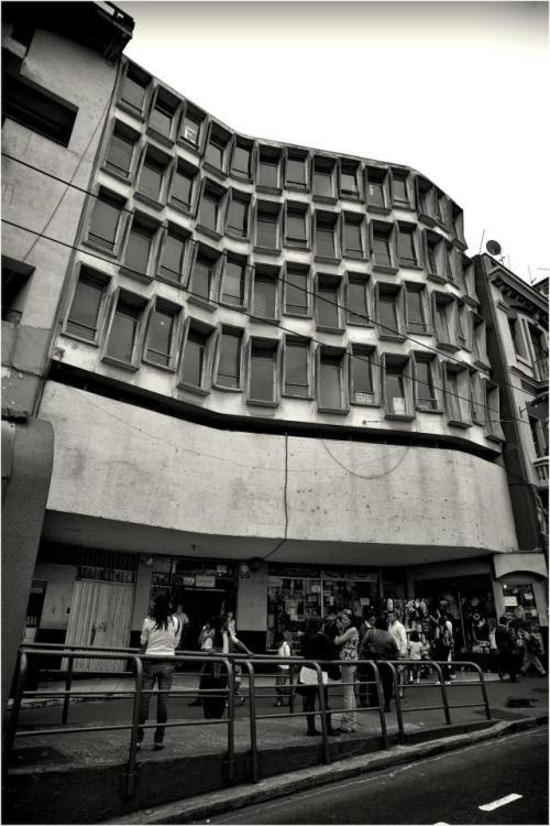 c. 1960, Jaime Dávalos, calle Guayaquil, Plaza del Teatro