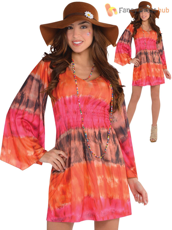 ladies 1960s groovy festival fancy dress adults hippy