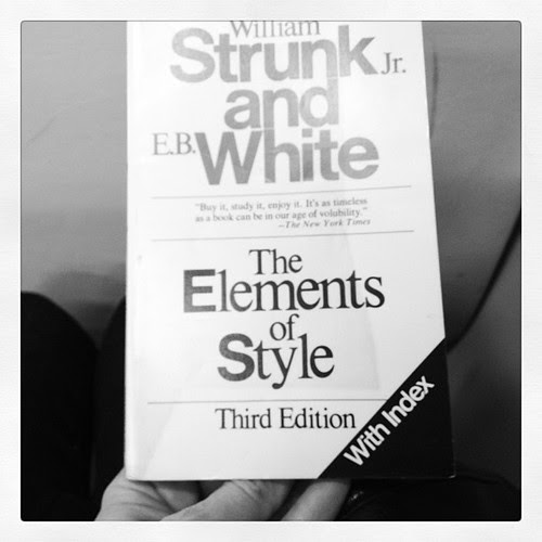 Today's morning reading #TheElementsOfStyle