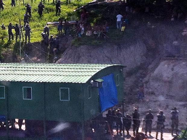 PF diz que foi vítima de emboscada de índios que não aceitaram destruição de balsas (Foto: Assessoria/PF)