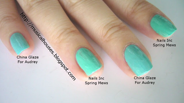 china glaze for audrey nails inc spring mews comparison 1