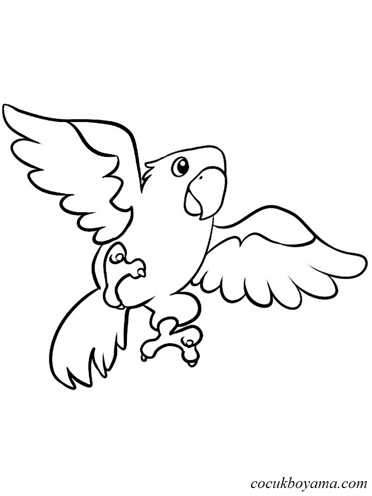 Muhabbet Kuşu 9 ücretsiz Boyama Resimleri