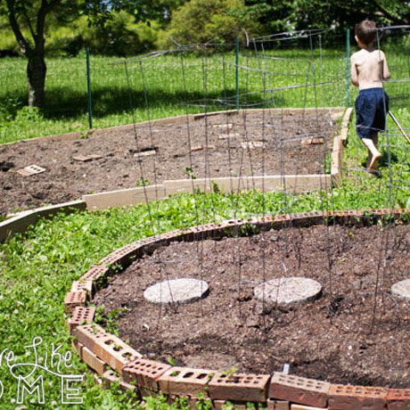 raised garden beds old bricks diy
