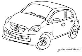 Sketsa Mobil Honda