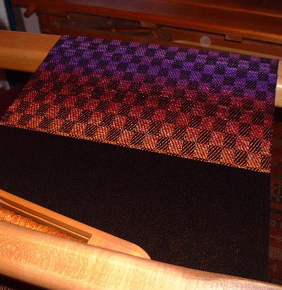 cashmere fabric on loom