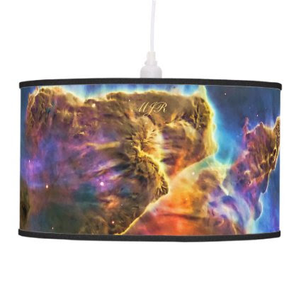 Monogram Carina Nebula Gas-cloud outer space image Hanging Lamp