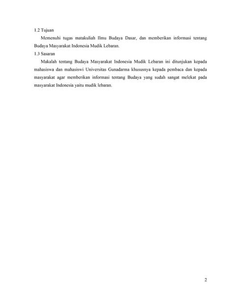 Makalah Budaya Masyarakat Indonesia Mudik Lebaran ~ adityo