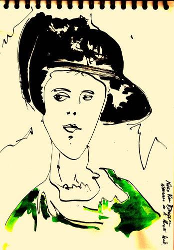 Revisitando el Hermitage en Madrid,Woman in a black Hat