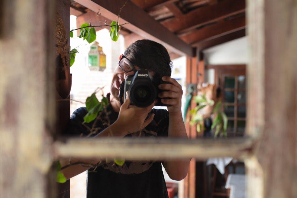 Mohamed estuda fotografia há 2 anos