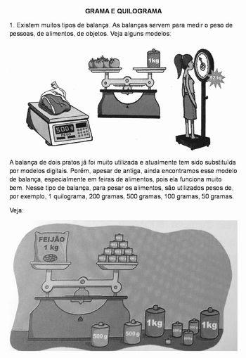 Portal Do Professor Aprendendo Sobre O Quilograma Algumas Possibilidades Interessantes