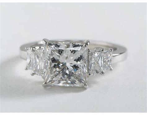 Four Stone Square Brilliant Diamond Engagement Ring in